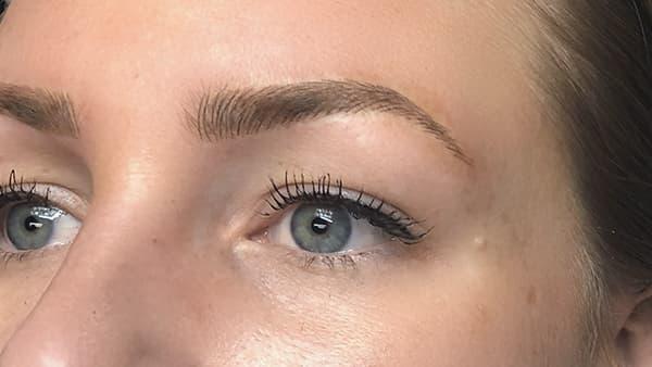 Permanent eyebrow sample image