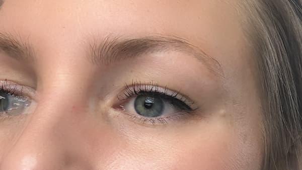 Image of eyebrows before applying permanent eyebrows