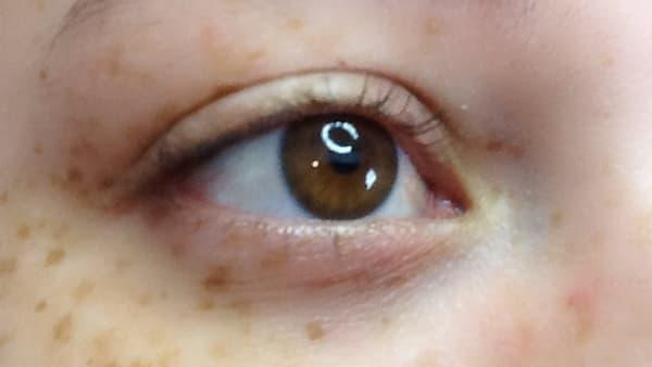 Eye image before applying eyeliner
