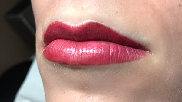 Lips Image after applying Lipstick