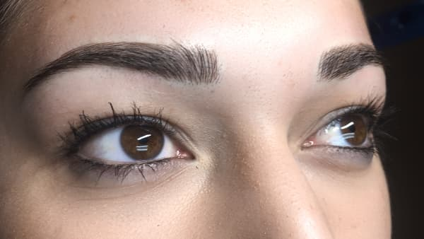 Sample image of eyes after permanent eyebrows