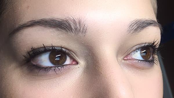 Sample image of eyes before permanent eyebrows